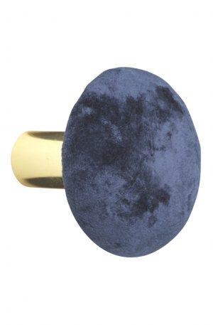 VÄGGKROK I SAMMET - ROYAL BLUE | Väggkrokar i olika färger och storlekar
