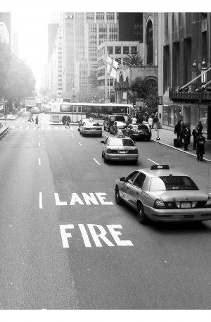 IRE LANE | POSTER | Svartvit poster på New Yorks gator
