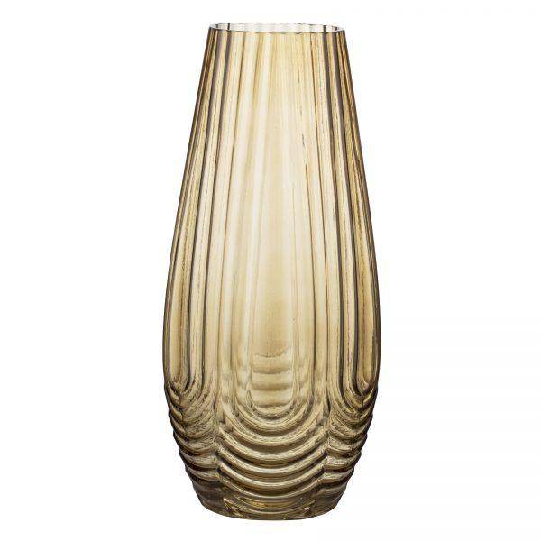SARAH VAS - GUL | Fin vas i gul transparant glas