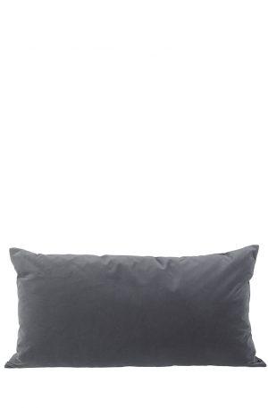 Sammetskudde 50x90 mörkgrå