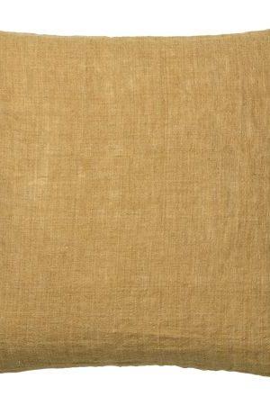 LINNEKUDDE - CURRY | 100% linne i en vacker mörkgul nyans