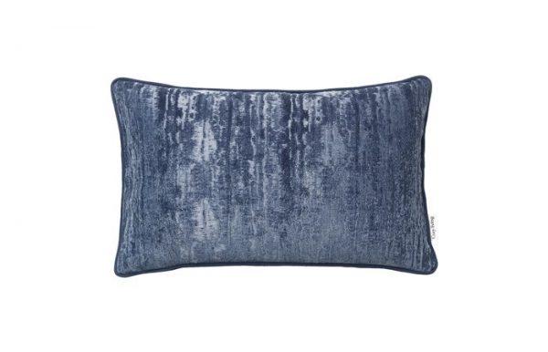 SAMMETEKUDDE JACQUARD - ROYAL BLUE