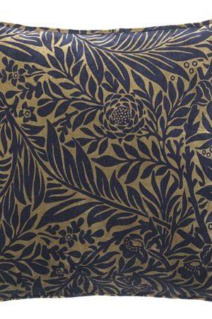 LÖVPRINT I SAMMET - Royal Blue | Vacker exklusiv kuddemed tryck
