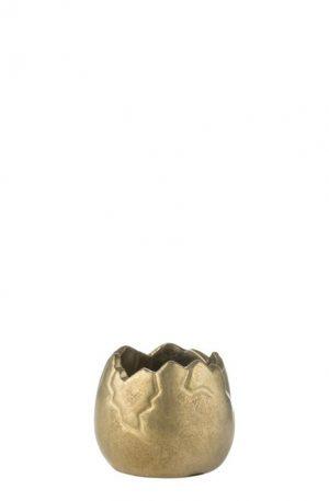 LJUSLYKTA ÄGGSKAL | En vacker ljuslykta i form av ett guldigt äggskal.