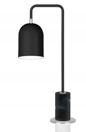 bordslampa bend svart - köp stilen - industri