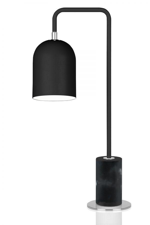bordslampa bend svart - köp stilen - industri