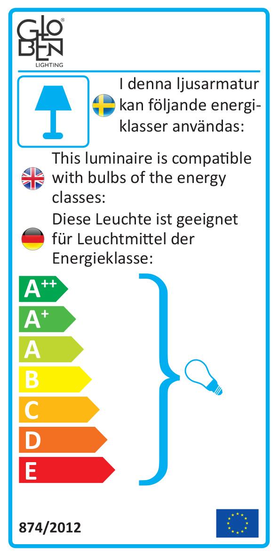 Energietikett - PENDEL CABLES SVART/KROM